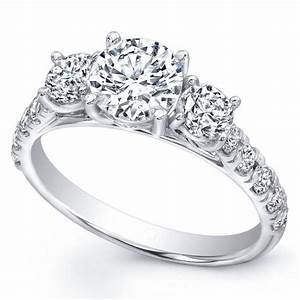 15 best collection of 3 band engagement rings for 3 band wedding rings