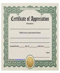 23 Blank Award Certificate
