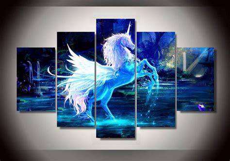 panels fancy unicorn group artwork multi canvas art