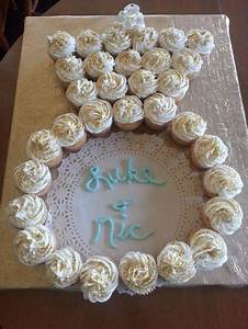 Cute cupcakes in the shape of an engagement ring for Wedding shower cupcakes