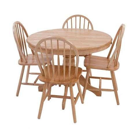 table and four chairs york round oak dining table and four dining chairs