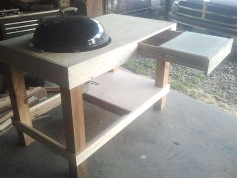 build  kettle grill table weber grill station