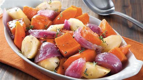 Slowcooker Glazed Root Vegetables Recipe Bettycrockercom