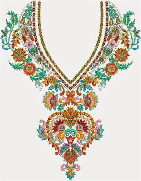 blouse bordir 1 embdesigntube neck yoke gala embroidery designs of kameez