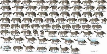 Wolf Sheet Spriters Resource Sprites Frozen Pc