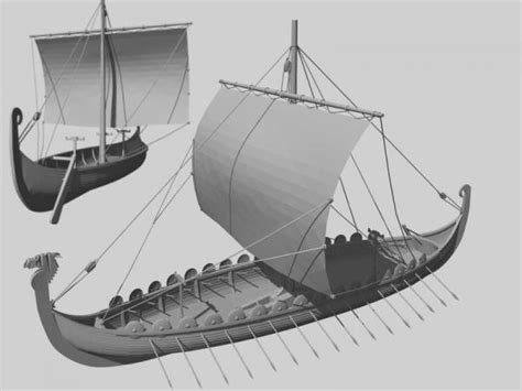 Viking Longboat Model by Viking Longboat 3d Model Sharecg