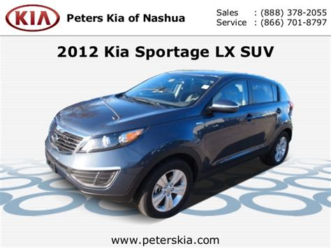 Peters Kia Of Nashua by Used 2012 Kia Sportage Lx Peters Kia Of Nashua Nh