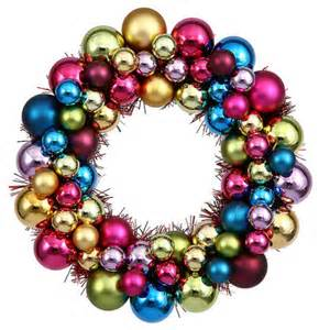 shatterproof christmas ball ornament wreath by jessica strayer design eclectic wreaths and