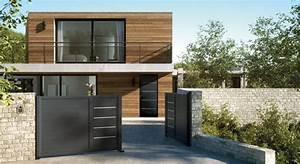 porte d39entree aluminium contemporaine cotim 11 With porte d entrée alu avec stickers poisson salle de bain