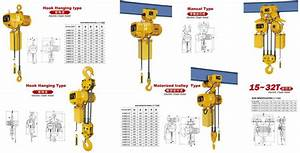 Manual Plain Trolley Electric Chain Hoists Manufacturers