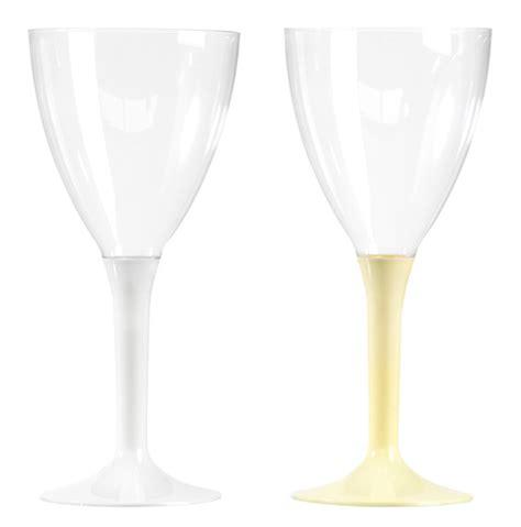 lot de 10 verres 224 vin ou 224 eau pied couleur vaisselle cocktail buffet mise en bouche