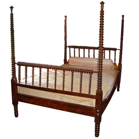 Spindle Bed by 19th Century Four Poster Spindle Bed At 1stdibs