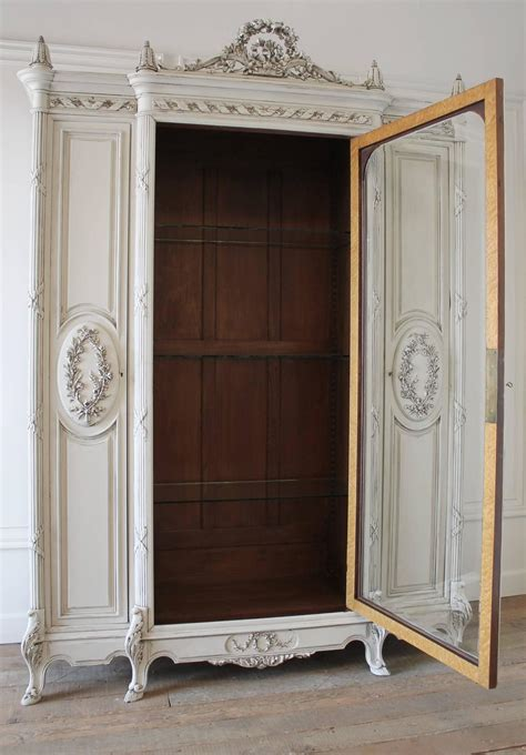 french armoire display cabinet 19th century painted antique french louis style armoire