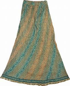 Crinkle Cotton Long Summer Skirt | Clothing