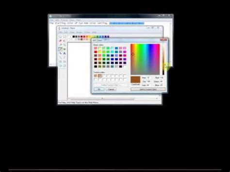 how to make a custom color and change brightness in ms paint youtube