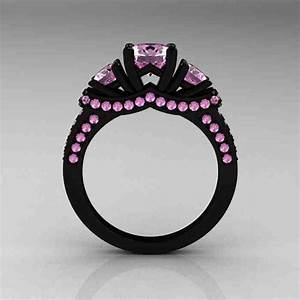 black engagement ring with pink diamonds wedding and With black wedding ring with pink diamonds