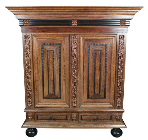 Cupboard Antique by Antique Carved Oak Paneled Cupboard Bookcase