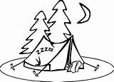 Coloring Camping Pages Wecoloringpage Clipart Preschool sketch template
