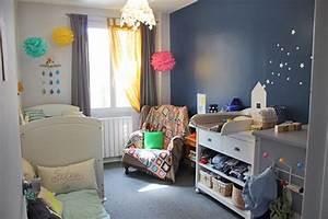 Rideaux Chambre Bébé Garçon : une jolie chambre b b pour un gar on mon b b ch ri blog b b ~ Teatrodelosmanantiales.com Idées de Décoration