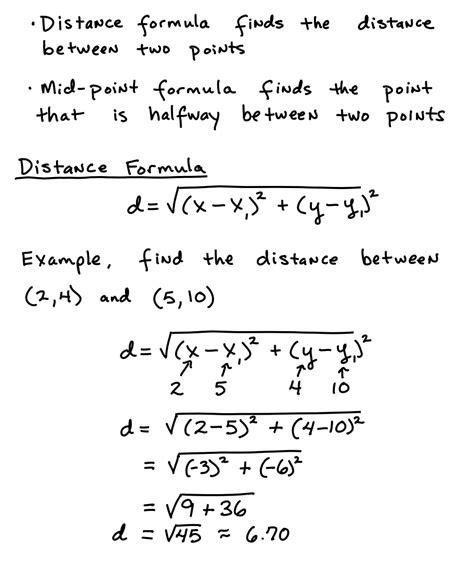 distance formula algebra test helper