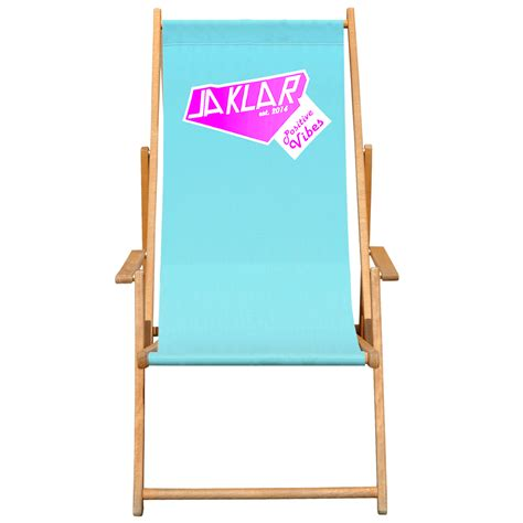 Liegestuhl Mit Werbung bas liegestuhl der klappbare strandstuhl aus holz mit