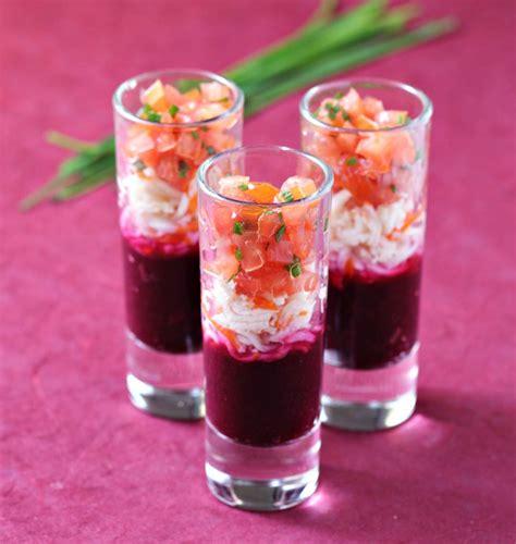 cuisine verrine verrines surimi tomate et betterave les meilleures