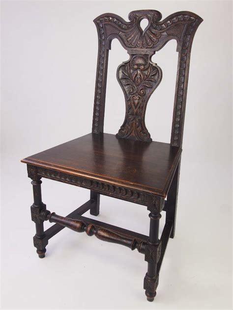 antique victorian gothic revival hall oak chair  sale