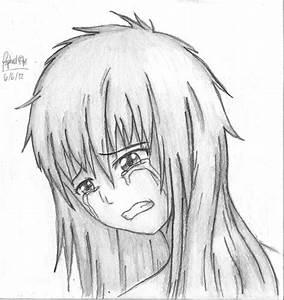 Simple Anim Sad Drawings Sad Anime Girl Amazing Drawing ...