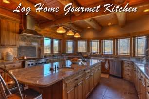 Decorative Gourmet Kitchen House Plans by Log Home Kitchenlog Home Directory