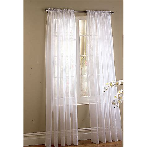 Light Filtering Privacy Curtains by Shop Style Selections High Twist Voile 84 In L Light