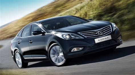 2015 New Hyundai Azera Luxury Black Car On Road Hd