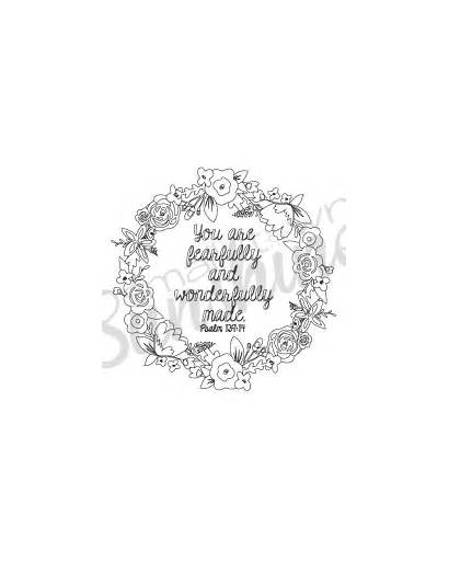 Psalm Coloring 139 Printable Pages Psalms Bible