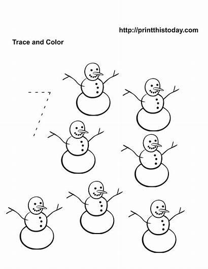 Number Worksheets Kindergarten Math Preschool Coloring Printable