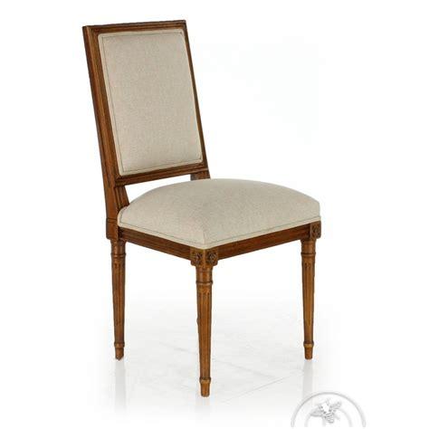 chaise tissu beige chaise louis xvi tissu beige trianon saulaie
