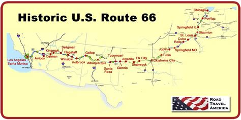 Travel Guide And Trip Planner For Historic U.s. Route 66
