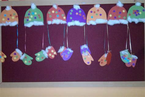 winter gloves hats cotton ball crafts  preschool funnycrafts
