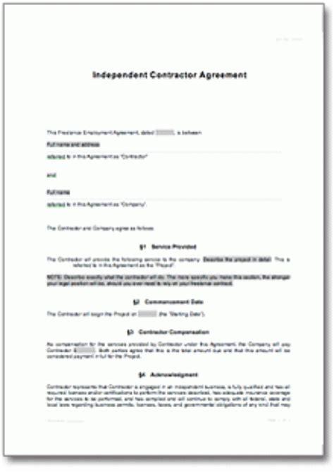 freier mitarbeitervertrag auf englisch
