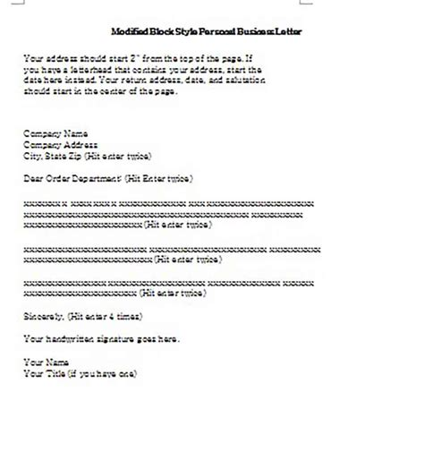 business letter sample      impressed