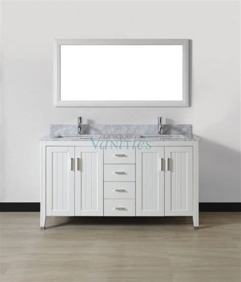 60 inch sink bathroom vanity with choice of top in white uvabjawh60