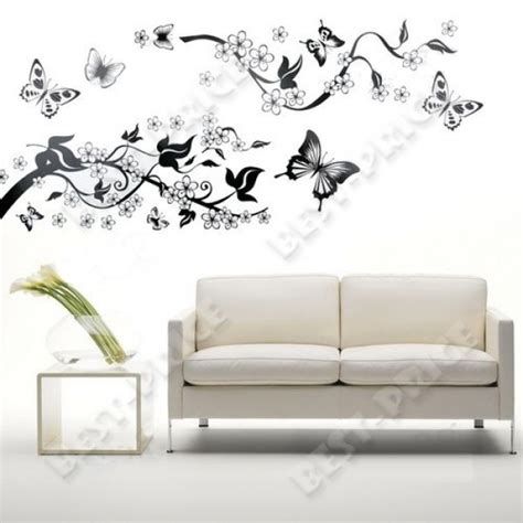 new butterfly flowers trees wall stickers wall decals vinyl decal decoration
