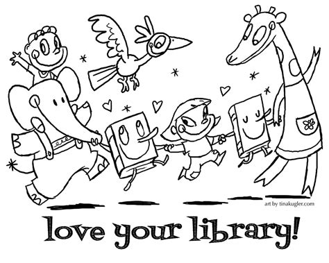 free coloring page calling all librarians and teachers