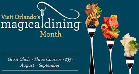 orlandos magical dining month  orlando
