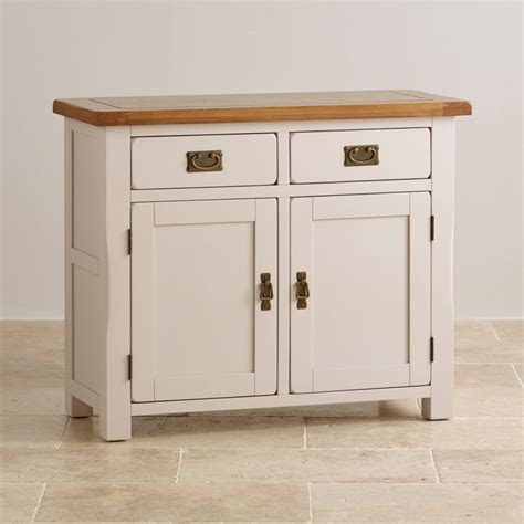small credenza kemble small painted sideboard in rustic solid oak