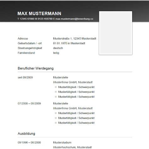 Lebenslauf Für Bewerbung Muster by Lebenslauf Muster Vorlagen F 252 R Die Bewerbung 2018