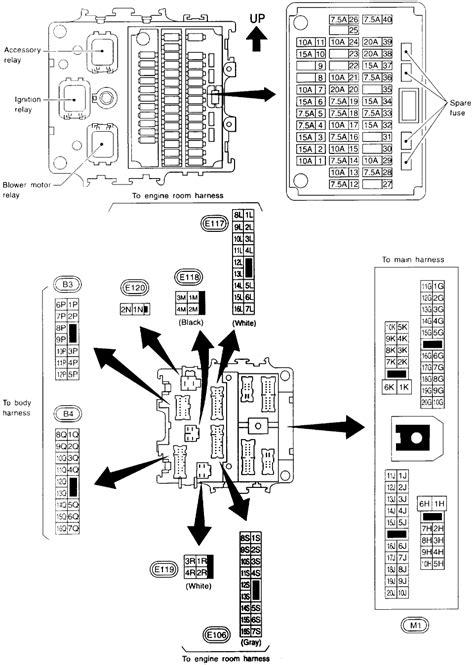 2007 Nissan Maxima Fuse Box Diagram by A C Condenser Fan Fuse Box Diagram 1996 Nissan Maxima