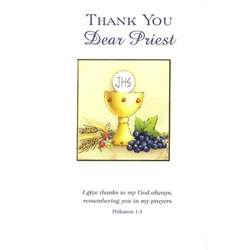 personalized jewelry for kids thank you card priest the catholic company