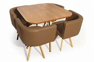 Table Avec Chaise Encastrable : table et chaises encastrables scandinaves taupes denmark design sur sofactory ~ Teatrodelosmanantiales.com Idées de Décoration