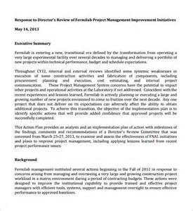 Project Management Action Plan Templates