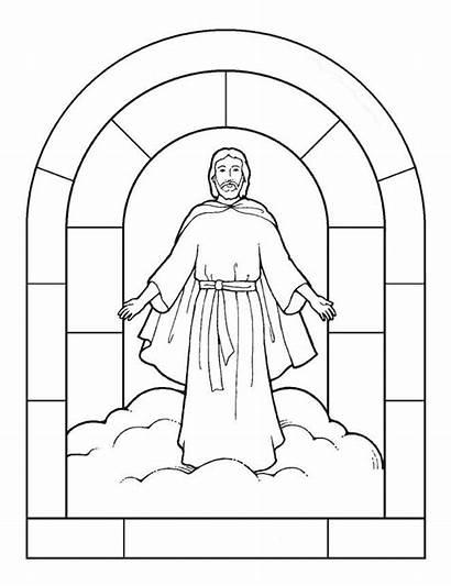 Coloring Transfiguration Jesus Catholic Bible Missionary Lord