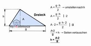 Dreieck Fläche Berechnen Formel : technische mathematik formeln umstellen 1 tec ~ Themetempest.com Abrechnung